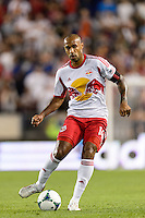 Thierry Henry (14) of the New York Red Bulls. The New York Red Bulls and the Philadelphia Union played to a 0-0 tie during a Major League Soccer (MLS) match at Red Bull Arena in Harrison, NJ, on August 17, 2013.