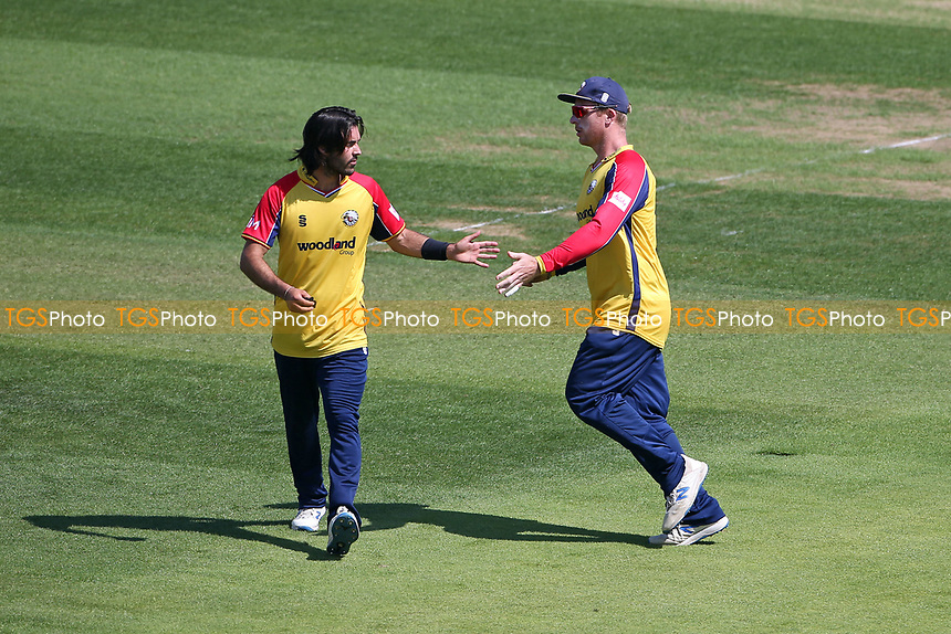 Shane Snater of Essex celebrates taking the wicket of James Fuller during Hampshire Hawks vs Essex Eagles, Vitality Blast T20 Cricket at The Ageas Bowl on 16th July 2021