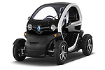 Front three quarter view of 2012 - 2014 Renault Twizy Technic 80 Micro Car Stock Photo