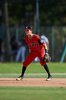 Bryan Muniz during the WWBA World Championship at the Roger Dean Complex on October 19, 2018 in Jupiter, Florida.  Bryan Muniz is a shortstop from Orange Park, Florida who attends Trinity Christian Academy.  (Mike Janes/Four Seam Images)