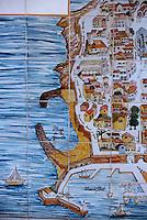 France/06/Alpes Maritimes/ Antibes: Mosaique dans la vieille ville représentant un plan de la cité [Non destiné à un usage publicitaire - Not intended for an advertising use]