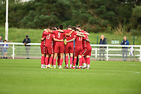 Worthing Palyers during Enfield Town vs Worthing, Pitching In Isthmian League Premier Division Football at the Queen Elizabeth II Stadium on 16th October 2021