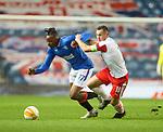 18.3.2021 Rangers v Slavia Prague: Joe Aribo and Jan Boril