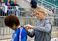 Dawn Scott, Japanese Player. The USWNT defeated Japan, 2-0,  at WakeMed Soccer Park in Cary, NC.