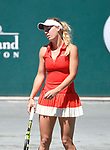 April 6,2017:  Caroline Wozniacki (DEN) defeated Annika Beck (GER) 7-5, 6-1, at the Volvo Car Open being played at Family Circle Tennis Center in Charleston, South Carolina.  ©Leslie Billman/Tennisclix/Cal Sport Media