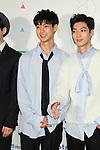 """Kwang-Min and Young-Min(BOYFRIEND), Apr 10, 2016 : Kwangmin, Youngmin, South Korean boy group BOYFRIEND attend """"KCON 2016 JAPAN"""" red carpet in Chiba, Japan on April 10, 2016. (Photo by Pasya/AFLO)"""