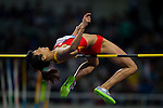 SHANGHAI, CHINA - MAY 19:  Xingjuan Zheng of China competes in the Women High Jump during the Samsung Diamond League on May 19, 2012 at the Shanghai Stadium in Shanghai, China.  Photo by Victor Fraile / The Power of Sport Images
