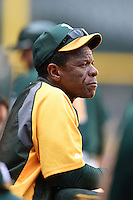 Oakland Athletics Rickey Henderson during an Instructional League game against the Arizona Diamondbacks on October 10, 2014 at Chase Field in Phoenix, Arizona.  (Mike Janes/Four Seam Images)