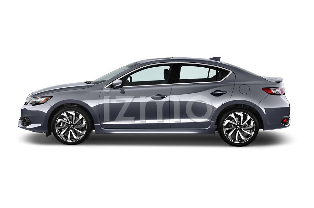 Car driver side profile view of a 2017 Acura ilx Tech Plus and A Spec Package 4 Door Sedan
