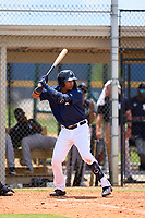 FCL Tigers East Pedro Martinez Jr. (45) bats during a game against the FCL Yankees on June 28, 2021 at Tigertown in Lakeland, Florida.  (Mike Janes/Four Seam Images)