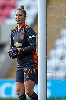 6th September 2020; Leigh Sports Village, Lancashire, England; Women's English Super League, Manchester United Women versus Chelsea Women; Goalkeeper Mary Earps of Manchester United Women