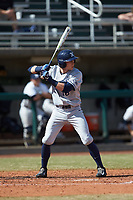 Will LaRue (10) of the Xavier Musketeers at bat against the Penn State Nittany Lions at Coleman Field at the USA Baseball National Training Center on February 25, 2017 in Cary, North Carolina. The Musketeers defeated the Nittany Lions 10-4 in game one of a double header. (Brian Westerholt/Four Seam Images)