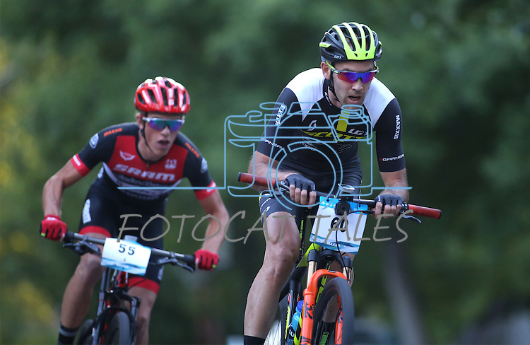 Riders participate in the Epic Rides Carson City Off-Road men's Pro Criterium in Carson City, Nev., on Friday, June 17, 2016.<br />Photo by Cathleen Allison