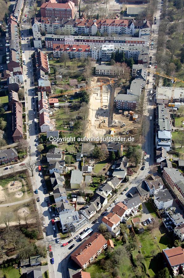 Wohnungsbau Freiweide Gojenbergsweg: EUROPA, DEUTSCHLAND, HAMBURG 23.03.2012: Hamburg Bergdorf, Wohnungsbau Freiweide Gojenbergsweg, Baustelle, Tiefbau,