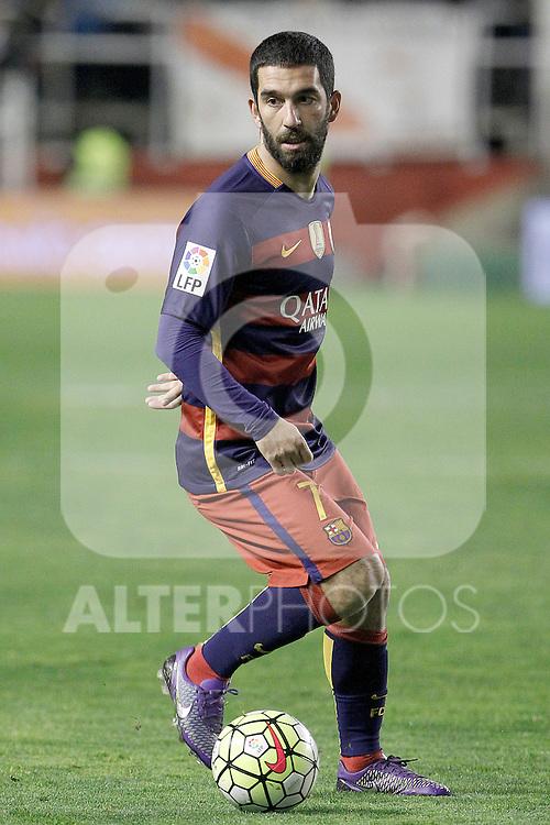 FC Barcelona's Arda Turan during La Liga match. March 3,2016. (ALTERPHOTOS/Acero)