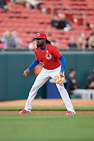 Buffalo Bisons third baseman Alen Hanson (31) during an International League game against the Norfolk Tides on June 21, 2019 at Sahlen Field in Buffalo, New York.  Buffalo defeated Norfolk 1-0, the second game of a doubleheader.  (Mike Janes/Four Seam Images)