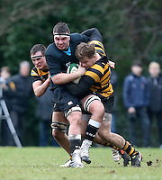 Saturday 18th February 2017 | CCB vs RBAI<br /> <br /> XXXX during the Ulster Schools' Cup Quarter Final clash between Campbell College Belfast and RBAI at Foxes Field, Campbell College, Belmont, Belfast, Northern Ireland.<br /> <br /> Photograph by John Dickson | www.dicksondigital.com