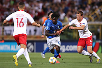 Moise Kean of Italy, Krystian Bielik of Poland <br /> Bologna 19/06/2019 Stadio Renato Dall'Ara  <br /> Football UEFA Under 21 Championship Italy 2019<br /> Group Stage - Final Tournament Group A<br /> Italy - Poland <br /> Photo Cesare Purini / Insidefoto