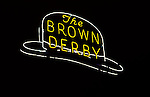 Neon sign for the Brown Derby Restaurant in Hollywood, CA