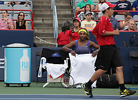 MONTREAL, CANADA – AUGUST 6 -<br /> World number One female tennis player Serena Williams play  against Samantha Stosur<br /> during the rogers tennis cup 2014 montreal, at the Uniprix Stadium on August6, 2014.<br /> <br /> Photo : Agence Quebec Presse - Pierre Roussel