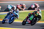 VALENCIA, SPAIN - NOVEMBER 11: Jakub Kornfeil, Jorge Navarro during Valencia MotoGP 2016 at Ricardo Tormo Circuit on November 11, 2016 in Valencia, Spain