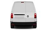 Straight rear view of a 2019 Volkswagen Caddy Van Base 4 Door Car van stock images