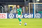 12.09.2020, Ernst-Abbe-Sportfeld, Jena, GER, DFB-Pokal, 1. Runde, FC Carl Zeiss Jena vs SV Werder Bremen<br /> <br /> Ömer / Oemer Toprak (Werder Bremen #21)<br /> Einzelaktion, Ganzkörper / Ganzkoerper <br /> Querformat<br /> <br /> <br />  <br /> <br /> <br /> Foto © nordphoto / Kokenge