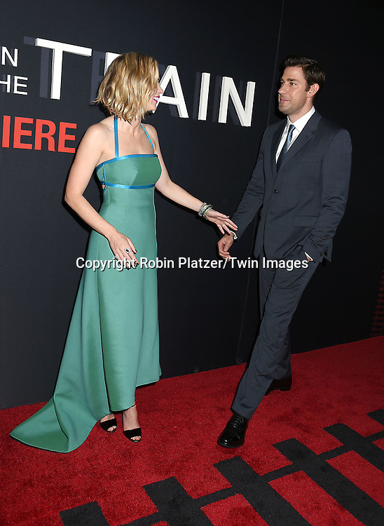 """Emily Blunt and husband John Krasinski attends """"The Girl on the Train"""" New York Premiere on October 4, 2016 at Regal E-Walk Stadium 13 & RPX  in New York,New York,  USA.<br /> <br /> photo by Robin Platzer/Twin Images<br />  <br /> phone number 212-935-0770"""
