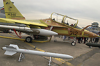 - advanced training aircraft Aermacchi M 346 in static exibition....- aereo da addestramento avanzato Aermacchi M 346 in mostra statica