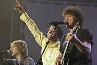 Luck Mervil and Robert Charlebois perform at the Saint-Jean-Baptiste show on the Plains of Abraham Thursday June 23, 2005.
