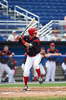 Batavia Muckdogs second baseman Micah Brown (55) at bat during a game against the Tri-City ValleyCats on July 16, 2017 at Dwyer Stadium in Batavia, New York.  Tri-City defeated Batavia 13-8.  (Mike Janes/Four Seam Images)