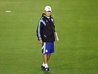 Argentina manager Alejandro Sabella during the training session