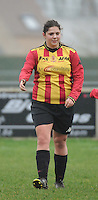 20160116 - ZULTE , BELGIUM : KV Mechelen's Hannelore Heyligen  pictured during a soccer match between the women teams of Famkes Merkem B and Yellow-Red KV Mechelen  , during the matchday in the Tirth League - Derde Nationale season, Saturday 13 February 2016 . PHOTO DIRK VUYLSTEKE
