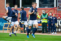 25th September 2021; Kilmac Stadium, Dundee, Scotland: Scottish Premiership football, Dundee versus Rangers; Lee Ashcroft and Cammy Kerr of Dundee during the warm up