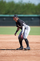 Chicago White Sox first baseman Corey Zangari (25) during an Instructional League game against the Kansas City Royals at Camelback Ranch on September 25, 2018 in Glendale, Arizona. (Zachary Lucy/Four Seam Images)