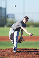 Carson Hansen (52), from St. Anthony, Idaho, while playing for the Giants during the Under Armour Baseball Factory Recruiting Classic at Red Mountain Baseball Complex on December 28, 2017 in Mesa, Arizona. (Zachary Lucy/Four Seam Images)
