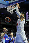Real Madrid´s Gustavo Ayon during 2014-15 Euroleague Basketball Playoffs second match between Real Madrid and Anadolu Efes at Palacio de los Deportes stadium in Madrid, Spain. April 17, 2015. (ALTERPHOTOS/Luis Fernandez)