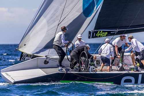 RC44 Team Aleph on which Dublin Bay sailor Cian Guilfoye is competing