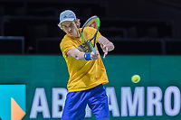Rotterdam, Netherlands, 10 februari, 2018, Ahoy, Tennis, ABNAMROWTT, Stefanos Tsitsipas (GRE) practising<br /> Photo: Henk Koster/tennisimages.com
