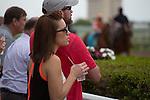 January 24, 2015: Fans watch the post parade at Gulfstream Park. Gulfstream Park, Hallandale Beach (FL). Arron Haggart/ESW/CSM