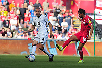 Mike van der Hoorn of Swansea City in action during the Sky Bet Championship match between Swansea City and Nottingham Forest at the Liberty Stadium in Swansea, Wales, UK. Saturday 14 September 2019