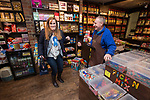 © Joel Goodman - 07973 332324 . 20/11/2014 . Kent , UK . Conservative candidate Kelly Tolhurst (l) inside Sweet Expectations sweet shop , talking to the shop owner . The Sweet Expectations unofficial poll has Tolhurst predicted to come 2nd . The Rochester and Strood by-election campaign following the defection of sitting MP Mark Reckless from Conservative to UKIP . Photo credit : Joel Goodman
