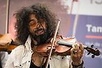 Lebanese violinist Ara Malikian during a concert to the fundacion Accion contra el Hambre at Atocha Station in Madrid. June 20. 2016. (ALTERPHOTOS/Borja B.Hojas)