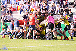 Spain team and Belgium team during Rugby Europe Championship 2017 match between Spain and Belgium in Madrid. March 18, 2017. (ALTERPHOTOS/Borja B.Hojas)