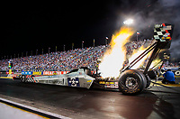 Aug 30, 2019; Clermont, IN, USA; NHRA top fuel driver Mike Salinas during qualifying for the US Nationals at Lucas Oil Raceway. Mandatory Credit: Mark J. Rebilas-USA TODAY Sports