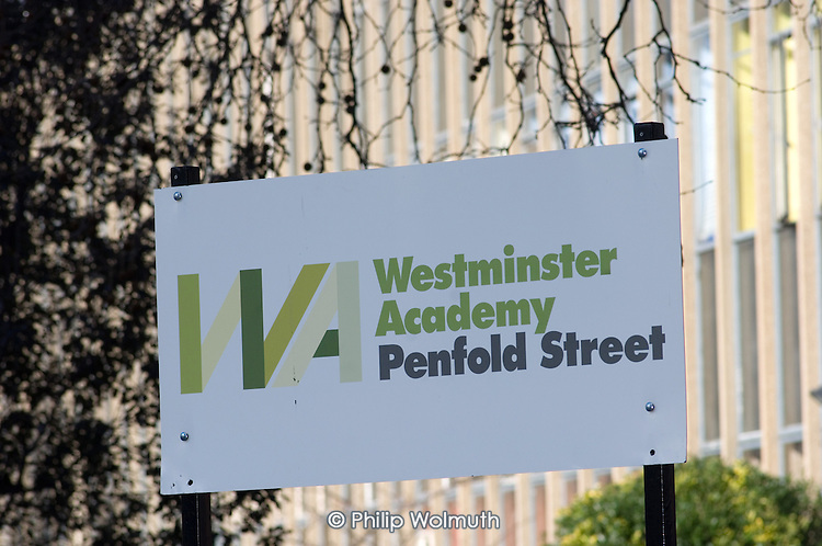 Westminster Academy, Penfold Street, formerly part of North Westminster Community School.