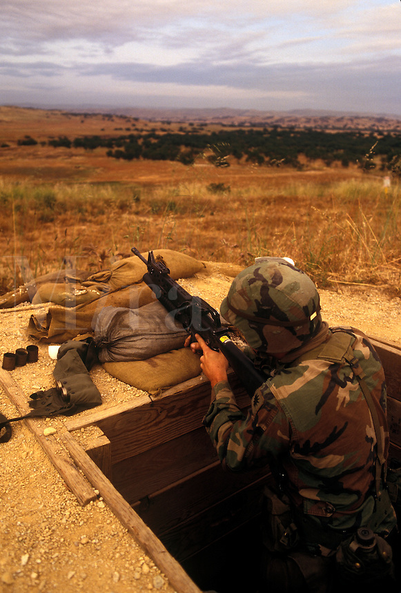 California National Guard training target practice.