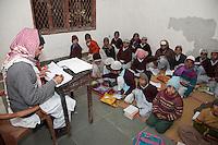 Madrasa Students in Classroom, Madrasa Imdadul Uloom, Dehradun, India.