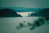 rowboat in Middle Bay, Marquette Michigan, Lake Superior.