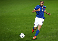 Football: Uefa Nations League Group A match Italy vs Netherlands at Gewiss stadium in Bergamo, on October 14, 2020.<br /> Italy's captain Giorgio Chiellini in action during the Uefa Nations League match between Italy and Netherlands at Gewiss stadium in Bergamo, on October 14, 2020. <br /> UPDATE IMAGES PRESS/Isabella Bonotto